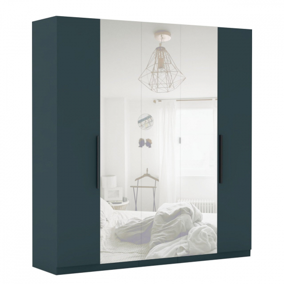 Šatníková skriňa so zrkadlom Merlot 5D