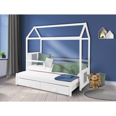 Detská dvojosobová posteľ so zábranou Hera II 80