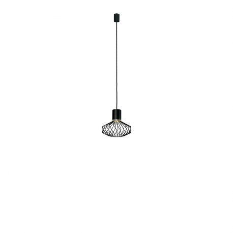 Moderná závesná lampa Pico black-gold I 8862