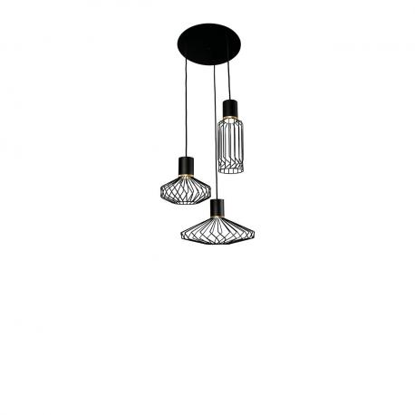 Industriálna lampa Pico čierno - zlatá III 8863