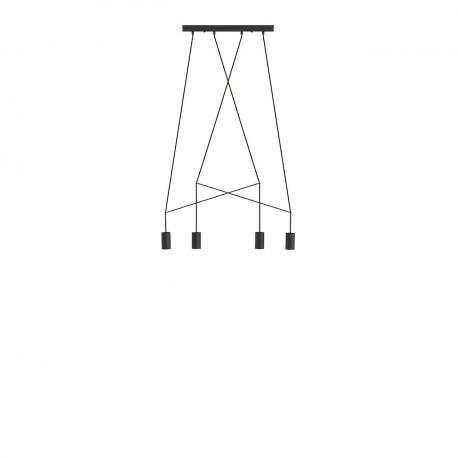 Moderná lampa Imbria čierna IV 9192