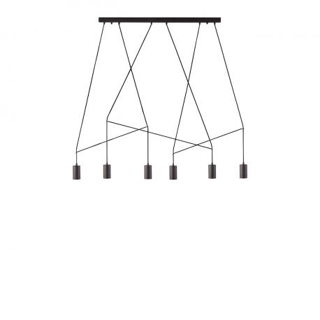 Závesné stropné svietidlo Imbria čierne VI 9675