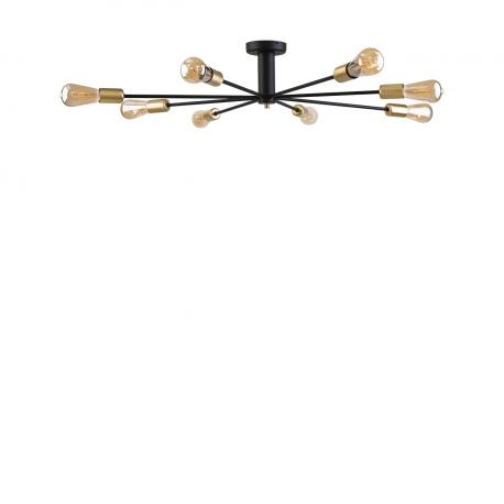 Moderné stropné svietidlo Mill black-gold VIII 9135