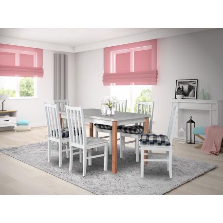 Rozkladací stôl so 6 stoličkami - AL06