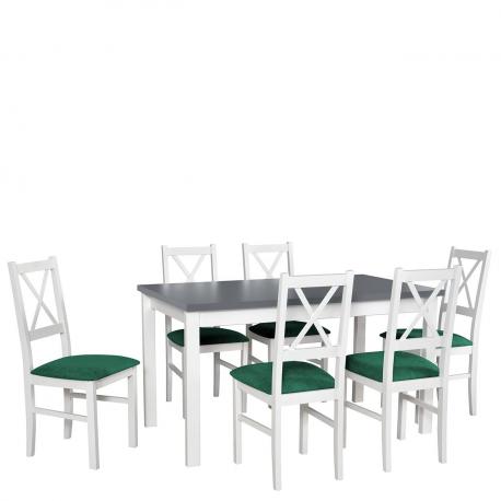 Rozkladací stôl so 6 stoličkami - AL04