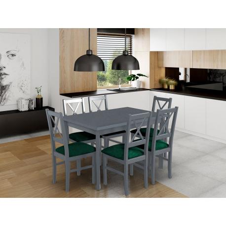 Rozkladací stôl so 6 stoličkami - AL25