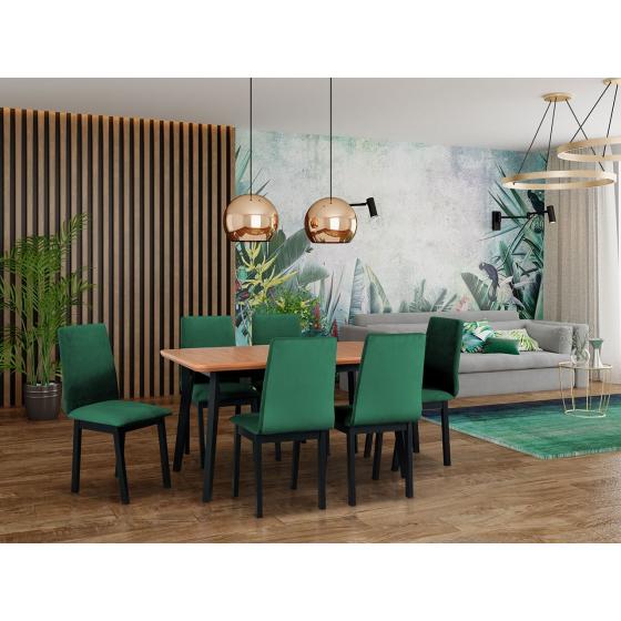 Rozkladací stôl so 6 stoličkami - AL51