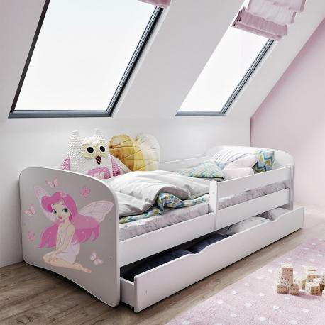 Detská posteľ s úložným priestorom a matracom Elsa