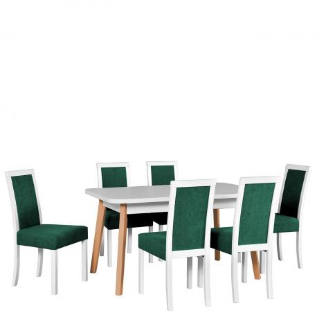 Rozkladací stôl so 6 stoličkami - AL49