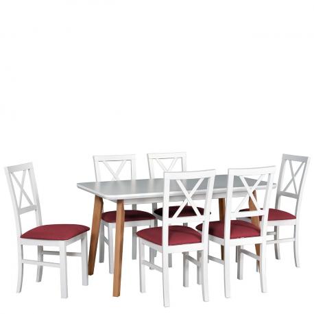Rozkladací stôl so 6 stoličkami - AL52
