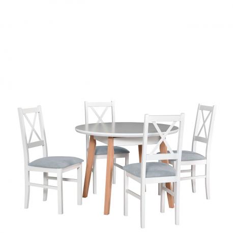 Okrúhly stôl so 4 stoličkami - AL42