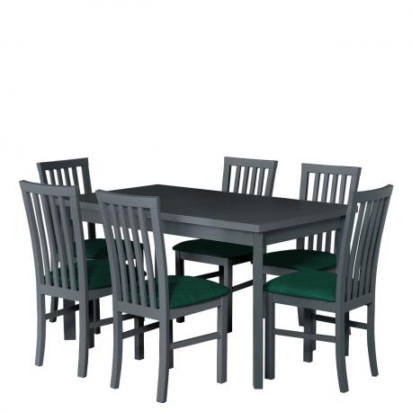 Rozkladací stôl so 6 stoličkami - AL36