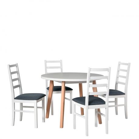 Okrúhly stôl so 4 stoličkami - AL41