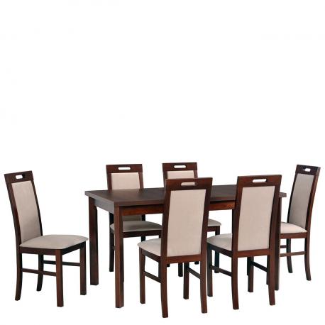 Rozkladací stôl so 6 stoličkami - AL35