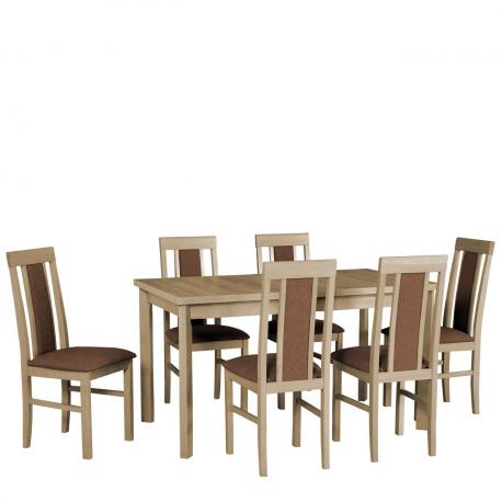 Rozkladací stôl so 6 stoličkami - AL34