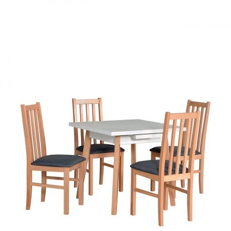 Rozkladací štvorcový stôl so 4 stoličkami - AL39