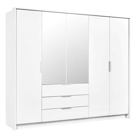 Šatníková skriňa so zrkadlom Agnettas 255