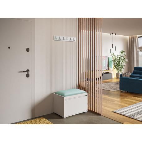 Nábytok do predsiene Konkor 60 + čalúnený nástenný panel Pag 60x30