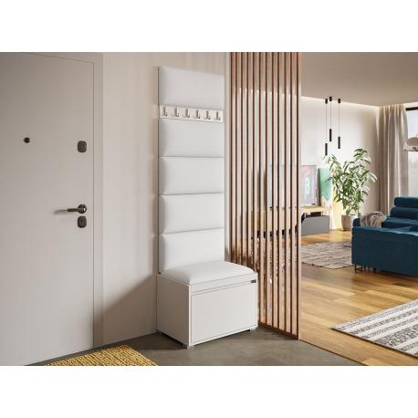 Nábytok do predsiene Konkor 60 + 6 kusov čalúnených nástenných panelov Pag 60x30