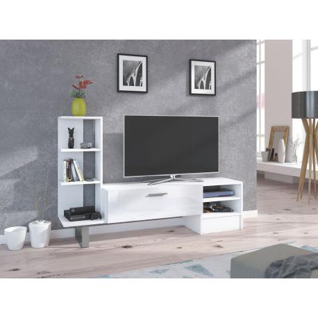 Televízna skrinka s regálom Silasio