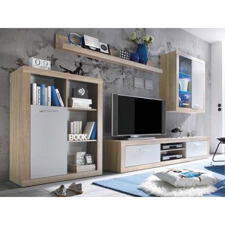 Nábytok do obývacej izby s LED osvetlením Feniks