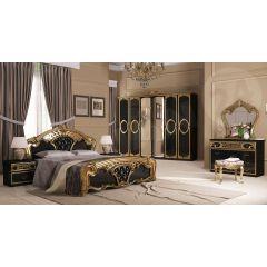 Spálňa Papos Black II