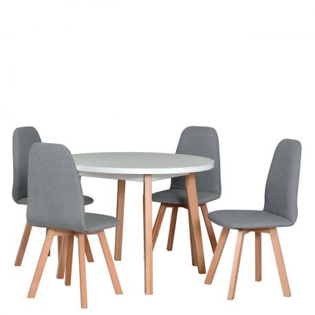Okrúhly stôl so 4 stoličkami - AL63