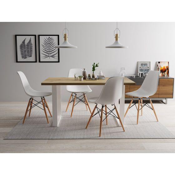 Moderný stolík Scarlett 200 + sada štyroch stoličiek Betty