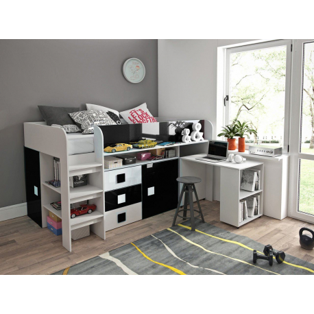 Poschodová posteľ s písacím stolom Tomson 1