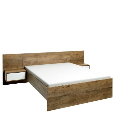 Manželská posteľ s nočnými stolíkmi L1 Ingrid IG04