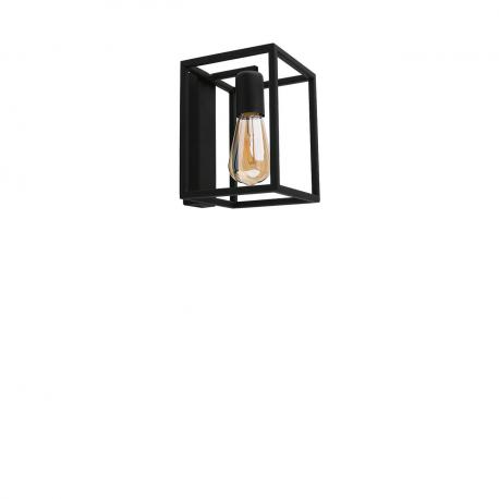 Nástenná lampa priemyselného štýlu Crate Black 9046