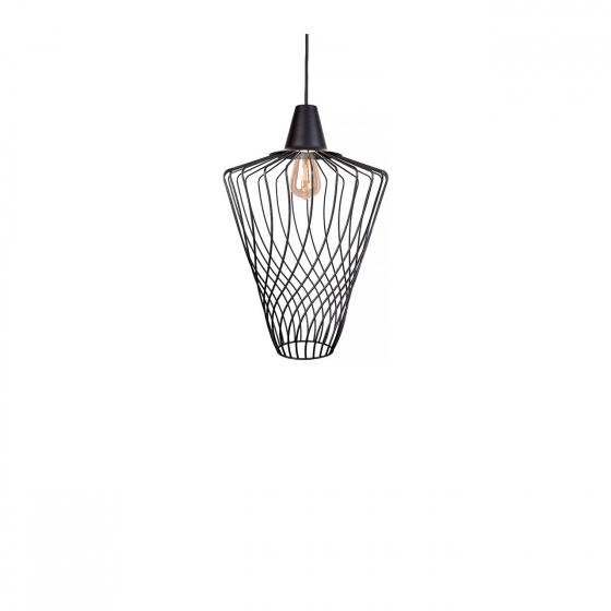 Moderná priemyselná lampa Wave Black L 8856