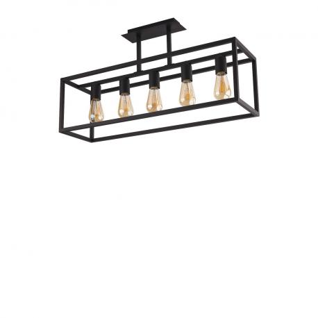 Závesná lampa Crate Black 9047