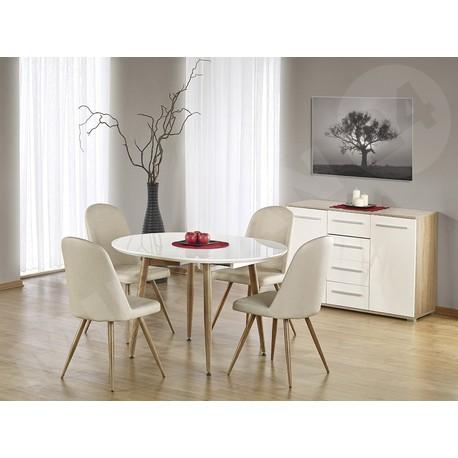 Rozkladací stôl Edward + 4x Čalúnená stolička K214