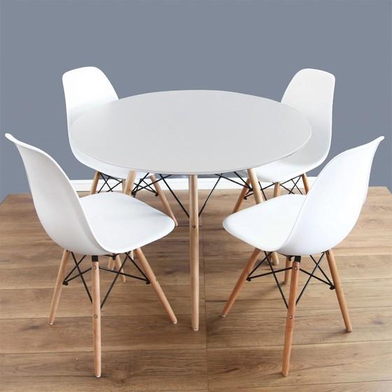 Okrúhly stôl Larry + 4x stolička Betty