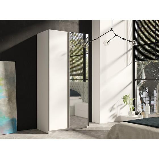 Skriňa s posuvnými dverami a zrkadlom Palma 100