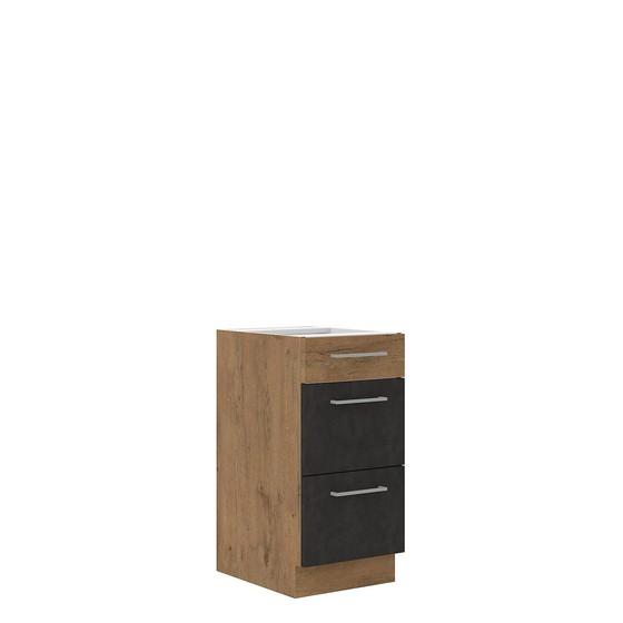 Dolná kuchynská skrinka so zásuvkami Woodline 40 D 3S BB