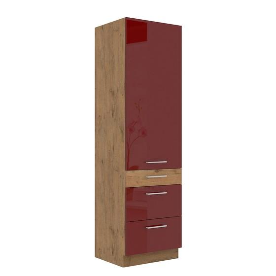 Vysoká kuchynská skrinka Woodline 60 DKS-210 3S 1F