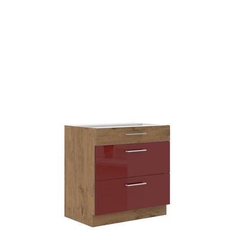 Dolná kuchynská skrinka Woodline 80 D 3S BB