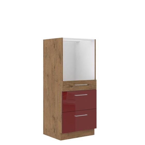 Kuchynská skrinka pod rúru so zásuvkami Woodline 60 DPS-145 3S BB