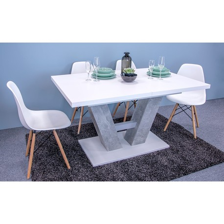 Moderný stôl Concrete 5002234 BEB + 4x stolička Betty