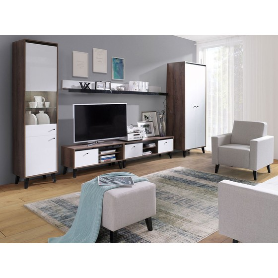 Nábytok do obývacej izby s taburetkou Naviedo Gloss I