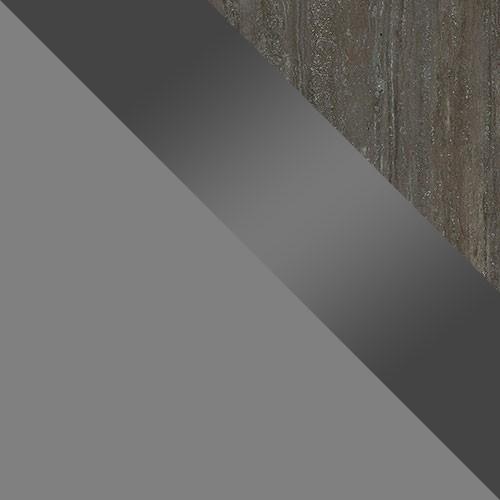 šedý / šedý lesk / pracovná doska: travertín