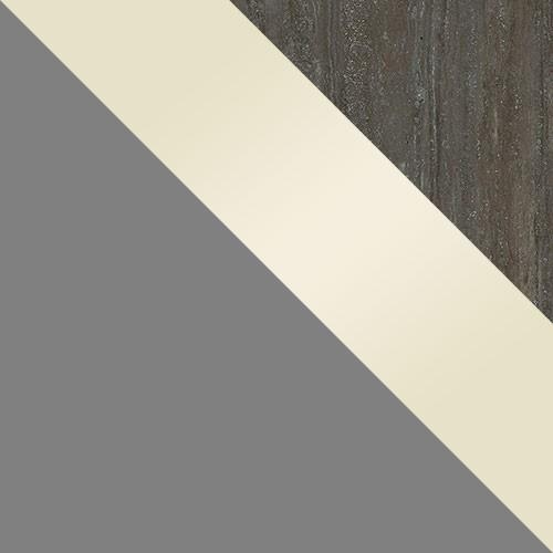 šedý / krém lesk / pracovná doska: travertín
