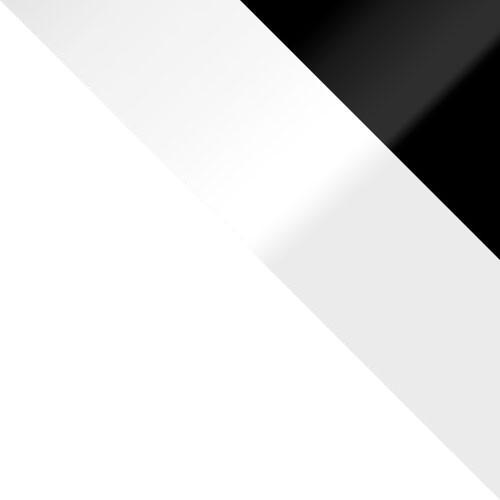 biela / biely lesk + čierny lesk