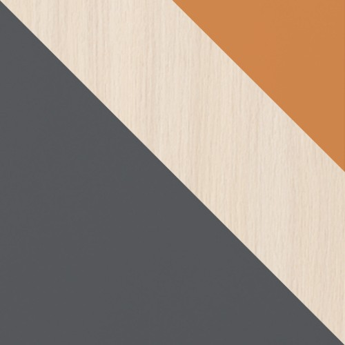 grafit / dub cremona + oranžový