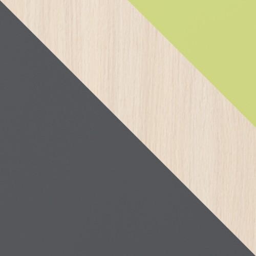 grafit / dub cremona + zelená