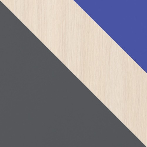 grafit / dub cremona + modrý