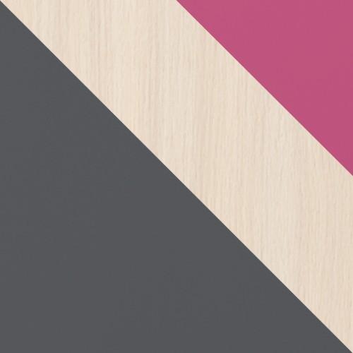 grafit / dub cremona + ružový