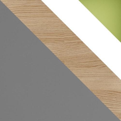 šedý / dub nova + biely + zelená